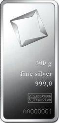 Sztaba srebra LBMA 500 g