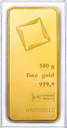 Sztaba złota LBMA 500 g minted